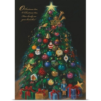 Susan Comish Poster Print entitled Christmas Tree - Free Shipping ...