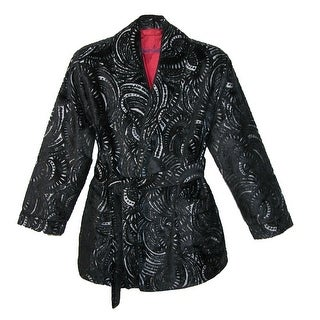 Robert Graham Men's Satin Lined Smoking Jacket - Black