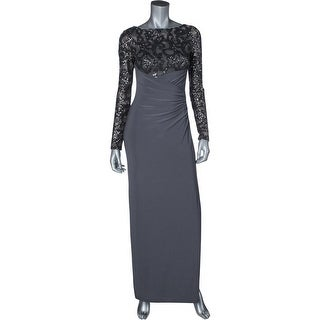 Lauren Ralph Lauren Womens Evening Dress Sequined High Waist