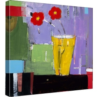 """PTM Images 9-98762  PTM Canvas Collection 12"""" x 12"""" - """"Red Bouquet II"""" Giclee Flowers Art Print on Canvas"""