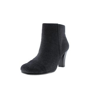 Aerosoles Womens Scrole Book Stacked Ankle Boots