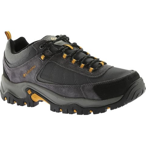 Columbia Men's Granite Ridge Waterproof Hiking Shoe Dark Grey/Golden Yellow