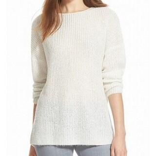 Chelsea28 NEW White Ivory Women's Size Medium M Sequin Rib Knit Sweater