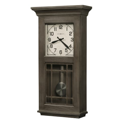 Howard Miller Amos Ash Finish Grandfather Style Wall Clock