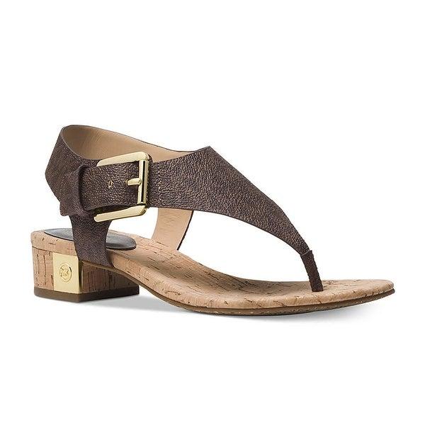 cee3caa0619 Shop MICHAEL Michael Kors London Thong Block Heel Sandals - Free Shipping  Today - Overstock - 27945602