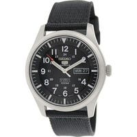 Seiko Men's 5 Automatic  Black Nylon Automatic Fashion Watch