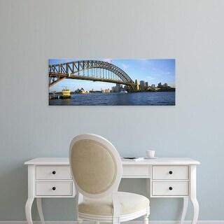 Easy Art Prints Panoramic Image 'Australia, New South Wales, Sydney, Sydney harbor, View of bridge and city' Canvas Art