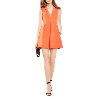 BCBG Max Azria Womens Clayre Evening Dress Crepe Strappy