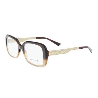 Versace VE3241 5205 Havana/Light Brown Rectangle Optical Frames - 54-17-140