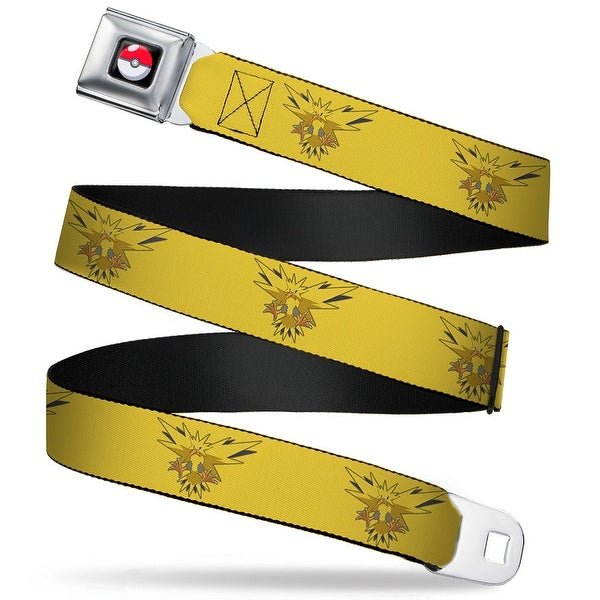 Pok Ball Full Color Black Zapdos Flying Pose4 Yellow Webbing Seatbelt Belt Seatbelt Belt
