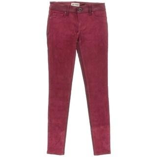 DL1961 Womens Emma Faux Suede Colored Denim Leggings - 24