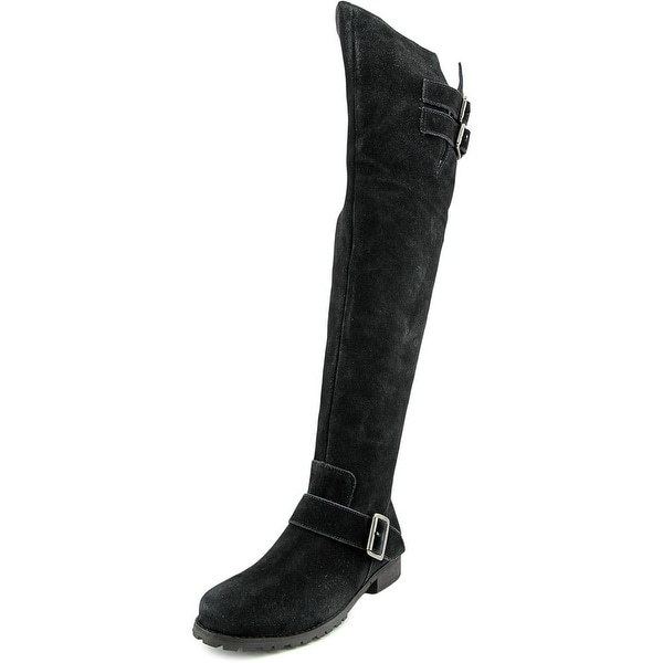 Matisse Flynn Women  Round Toe Suede Black Over the Knee Boot