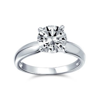 Link to 3 CT AAA CZ Solitaire Engagement Ring Wide Band 925 Sterling Silver Similar Items in Rings