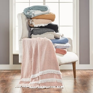 Modern Threads 2 Pack Dion 100-Percent Cotton Throw 50x60