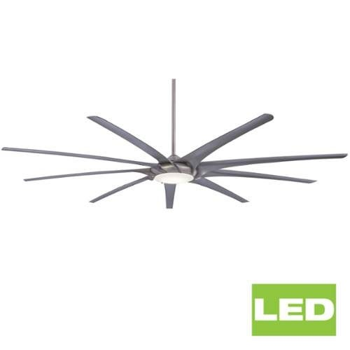 """MinkaAire Ninety-Nine 99"""" 9 Blade Ninety Nine Indoor Ceiling Fan with Integrated LED Light and Remote Included"""