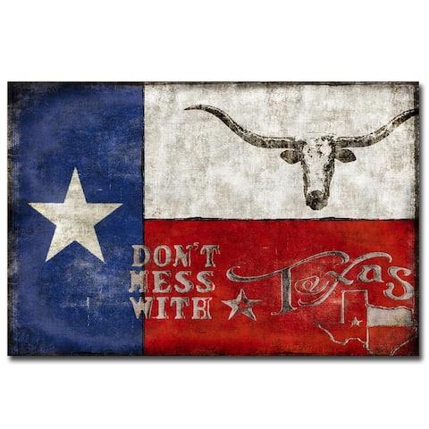 Texas Proud by Luke Wilson Gallery Wrapped Canvas Giclee Art (24 in x 36 in)