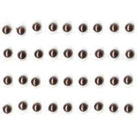 "Chocolate - Self-Adhesive 3Mm Pearl Strips 12"" 4/Pkg"