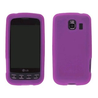 Smooth Silicone Gel Case for LG Optimus S LS670 - Dark Pink