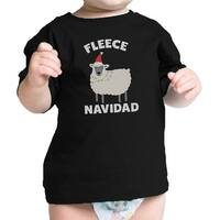 Fleece Navidad Infant Gift Tee Shirt Black