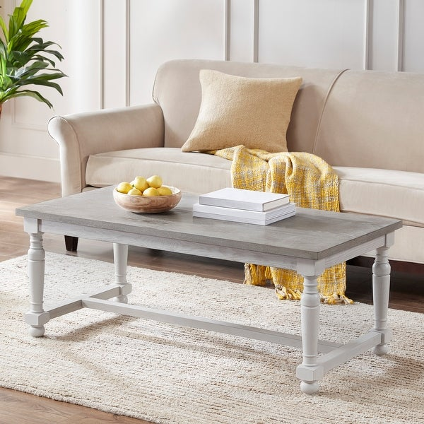 Martha Stewart Winfield Natural/ Cream Coffee Table. Opens flyout.