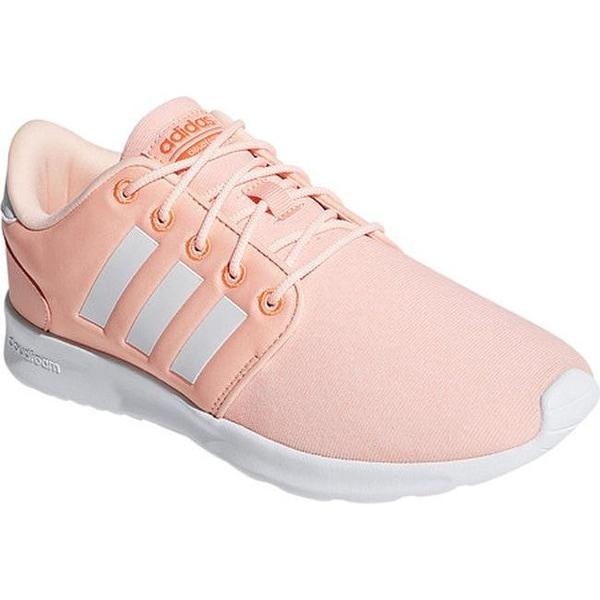 adidas Women  x27 s Cloudfoam QT Racer Sneaker Haze Coral Running White  ae35b1cbd