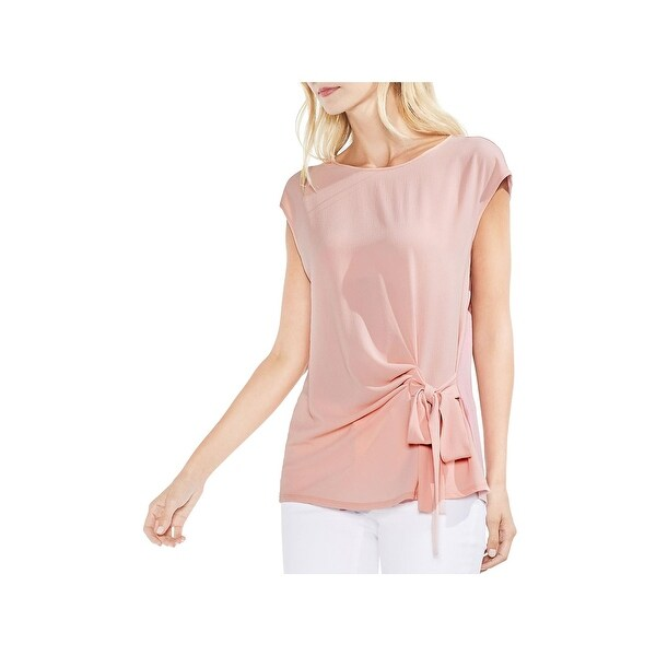 Vince Camuto Womens Pullover Top Tie Front Blouse