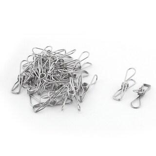 Office Supplies Student Metal Folder Paper Money Hollow Out Binder Clip 25 Pcs