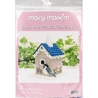 "Birdhouse Tissue Box Plastic Canvas Kit-5"" 7 Count"
