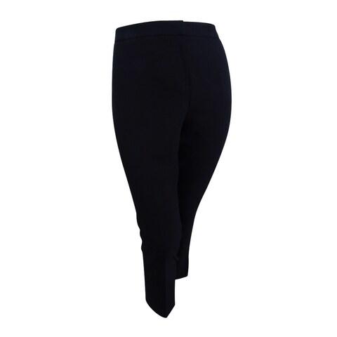 Kasper Women's Petite Straight-Leg Ankle Pants - Black - 8P