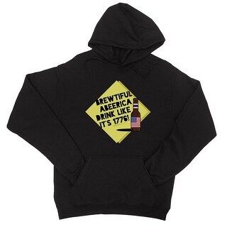 Brewtiful Abeerica Unisex Black Pullover Hooded Sweatshirt Hoodie (More options available)