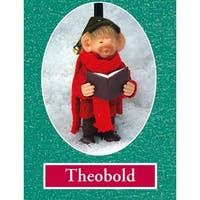 """7.5"""" Zims The Elves Themselves Theobold Collectible Christmas Elf Figure - multi"""