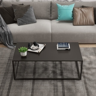 Contemporary Square End Table Modern Coffee Table Sofa Table For Living Room And Office Black Matte Accuweather Shop