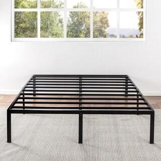 "14"" Metal Platform Bed with Steel Slats"