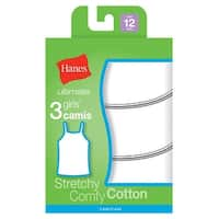 Hanes Ultimate™ TAGLESS® Cotton Stretch Girls' Cami White 3-Pack - Size - XL - Color - White