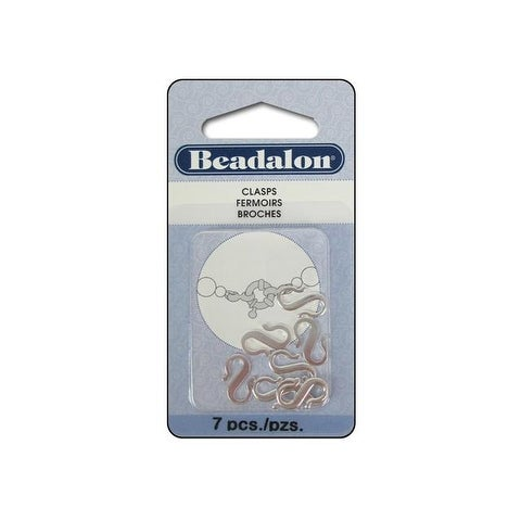 Beadalon S-Hooks Small 7pc Silver Plated