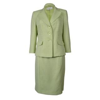Le Suit Women's Tropical Blooms Woven Skirt Suit