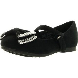 Jelly Beans Yoyoma Toddlers Little Girls Glitter Bow Ballerina Falt Shoes