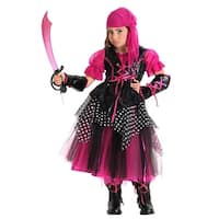Pink Caribbean Pirate Child Costume