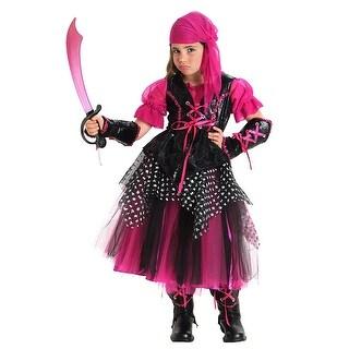 Pink Caribbean Pirate Child Costume