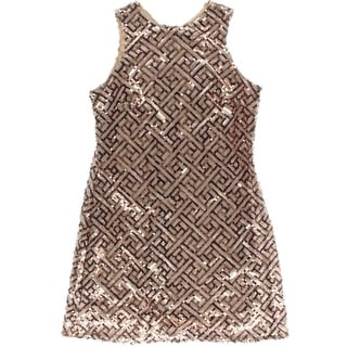Haoyouduo Womens Sequined Sleeveless Cocktail Dress - XL