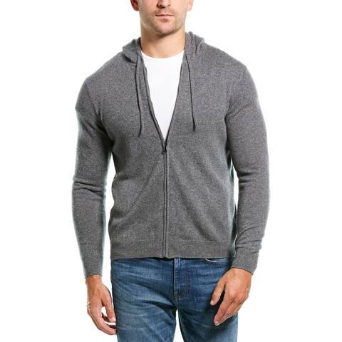 Amicale Cashmere Hooded Cashmere Jacket - Medium Grey