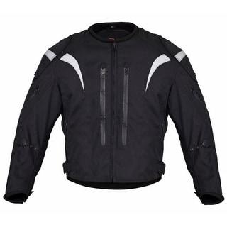 Men Motorcycle Waterproof All-Season Race Jacket Black MBJ070