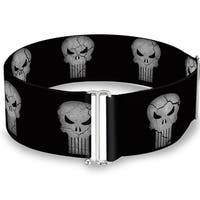 Stone Punisher Logo Black Gray Cinch Waist Belt   ONE SIZE
