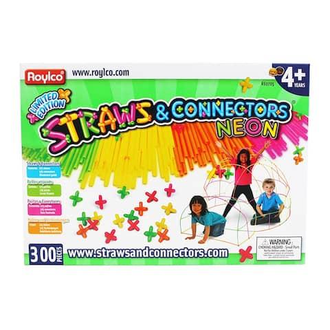 Straws & Connectors 300 Pieces Neon