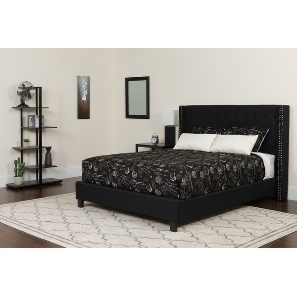 Riverdale Tufted Upholstered Platform Bed. Opens flyout.