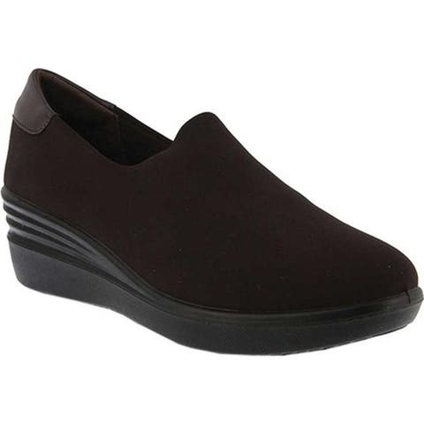 Flexus by Spring Step Women's Noral Slip-On Shoe Brown Lycra