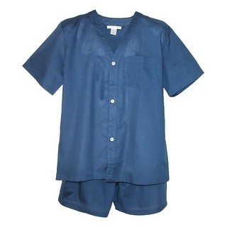 Geoffrey Beene Men's Big and Tall Short Sleeve Short Leg Pajama Set