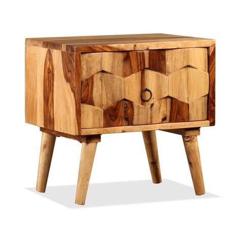 vidaXL Bedside Cabinet with 1 Drawer Solid Sheesham Wood