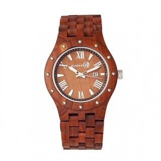 Earth Wood Inyo Unisex Quartz Watch, Wood Band, Luminous Hands