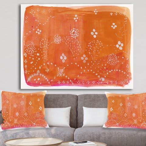 Porch & Den 'Indian Orange Composition' Premium Canvas Wall Art